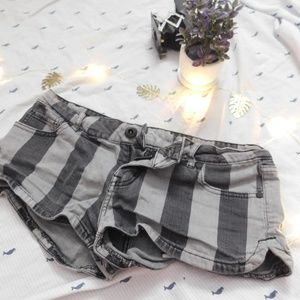 Black and Grey Stripped Shorts